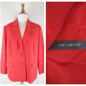 The Limited Plus Size Coral Orange Blazer Jacket